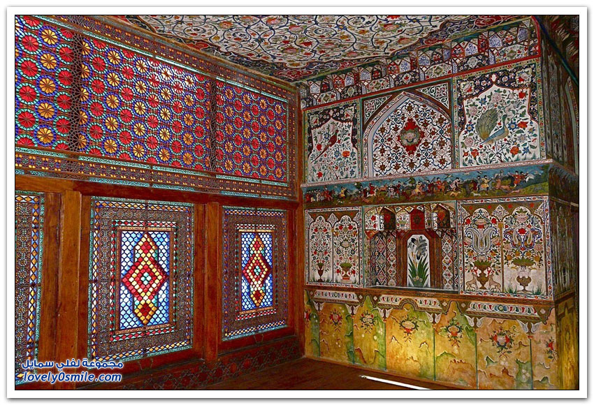 القصر الملكي في مدينة شاكي في أذربيجان