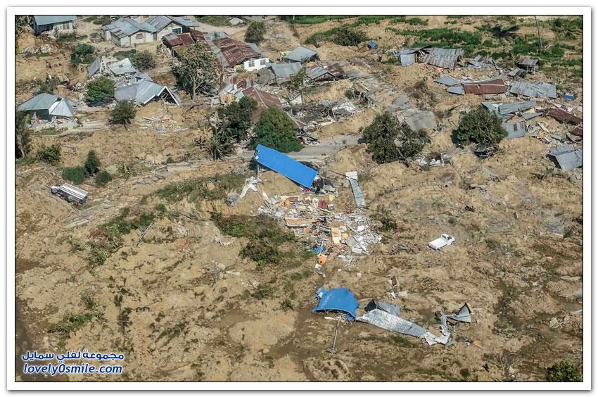 صور من الزلزال المدمر والتسونامي في إندونيسيا
