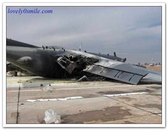 صور تحطم الطائرة الأمريكية