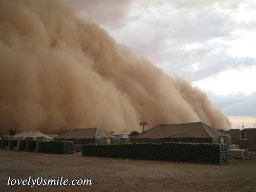 صور العاصفة التي حدثت في العراق