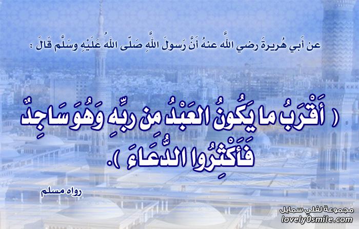 أقرب ما يكون العبد من ربه وهو ساجد فأكثروا الدعاء