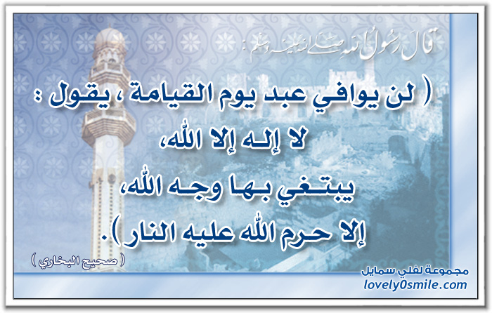 لن يوافي عبد يوم القيامة يقول لا إله إلا الله يبتغي بها وجه الله إلا حرم الله عليه