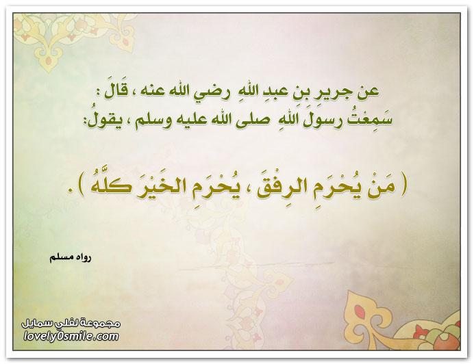 من يُحرم الرفق يُحرم الخير كله