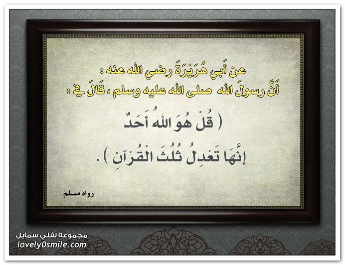 قل هو الله أحد تعدل ثلث القرآن