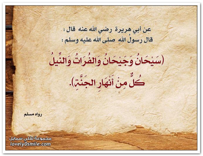 سيحان وجيحان والفرات والنيل كُلٌ من أنهار الجنة