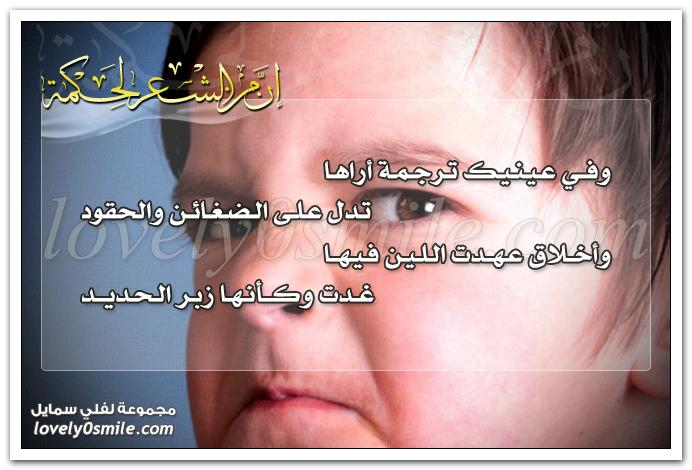وفي عينيك ترجمة أراها تدل على الضغائن والحقود