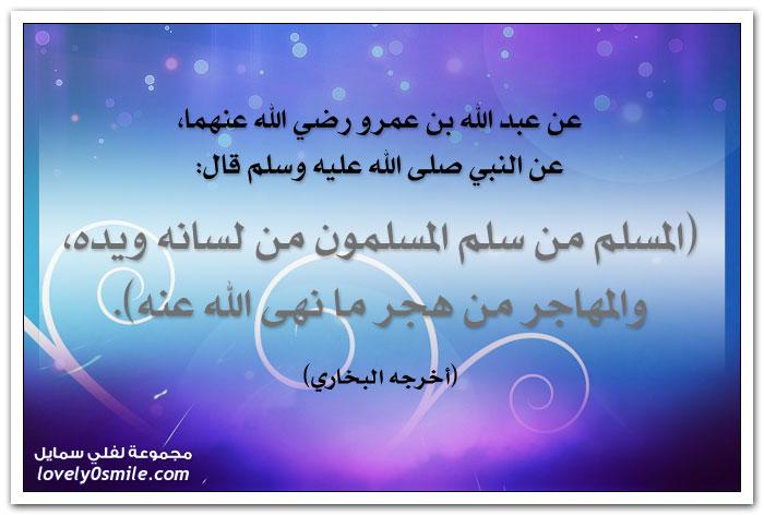 المسلم من سلم المسلمون من لسانه ويده، والمهاجر من هجر ما نهى الله عنه