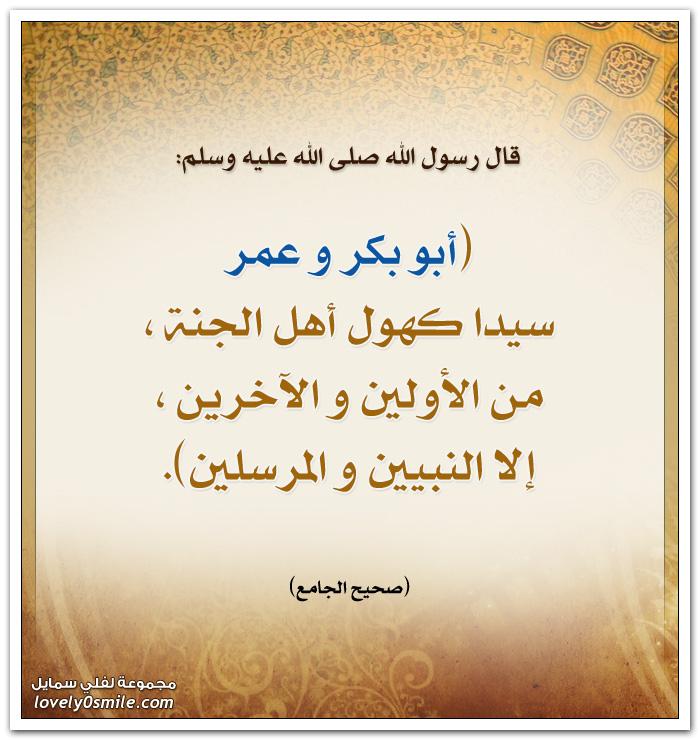 أبو بكر وعمر سيدا كهول أهل الجنة من الأولين والآخرين