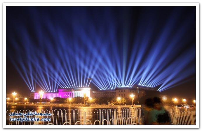 صور من استعدادات الصين لحتفالات الذكرى 60 لتأسيس جمهورية الصين الشعبية