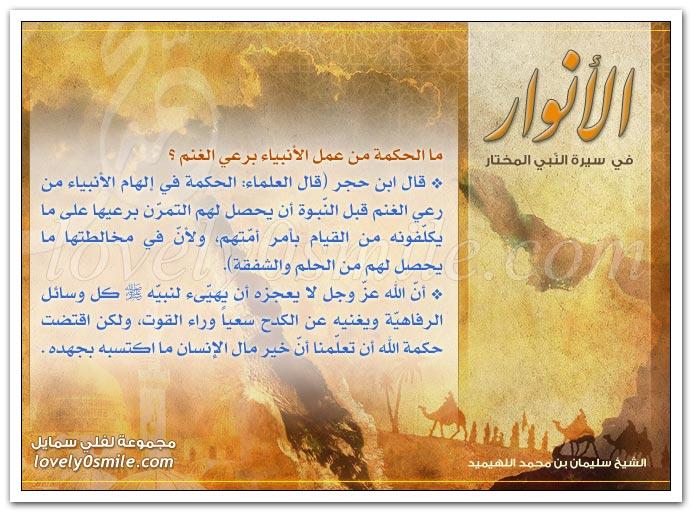 الحكمة من عمل الأنبياء برعي الغنم + أول من امرأة تزوجها النبي + بعض فضائل خديجة