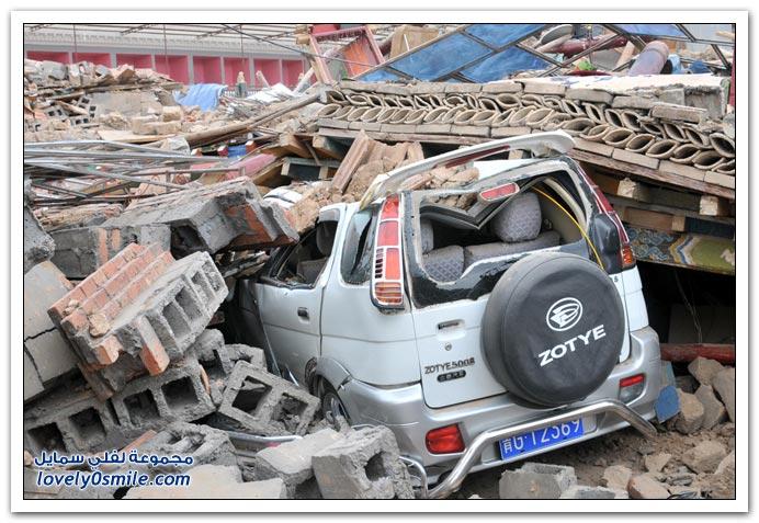 صور من زلزال يوشو في الصين