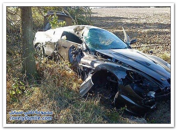 صور: حوادث لأغلى السيارات