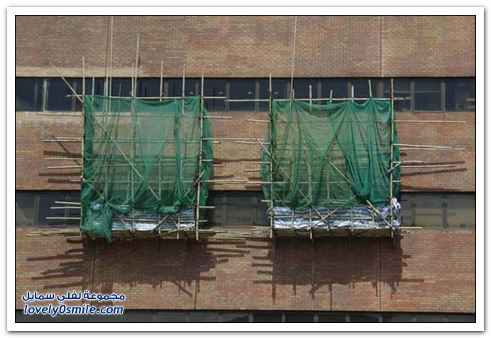 صور: استخدام الخيزران كسقالات أثناء البناء في شرق آسيا
