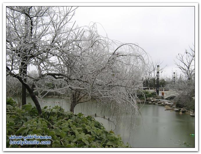 بعد عاصفة جليدية على شمال الصين