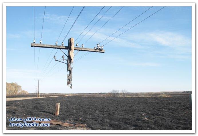 صور أحد نتائج الحرائق في روسيا