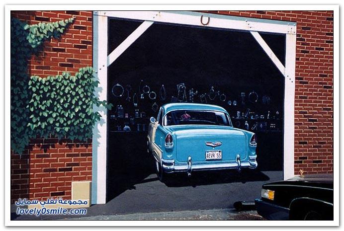 صور رسوم 3د على جدران