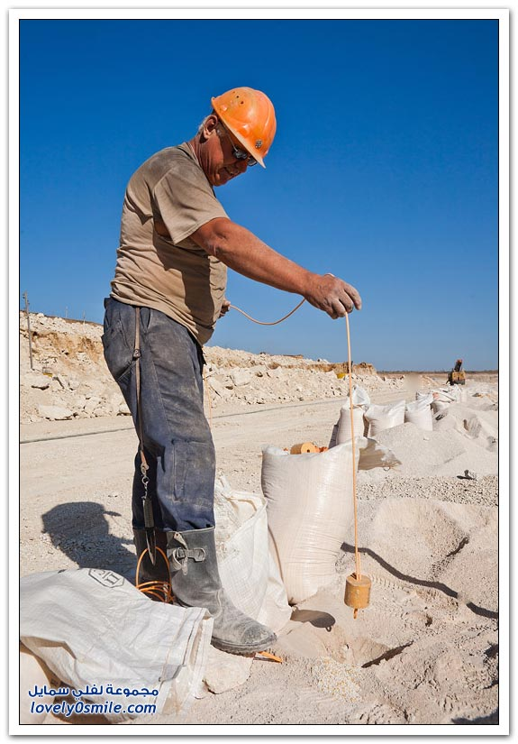 كيف يتم استخراج الحجر الجيري