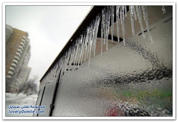 الثلوج في موسكو