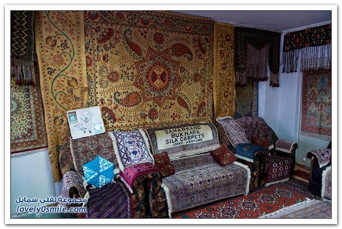 الحرير وصناعة السجاد في سمرقند