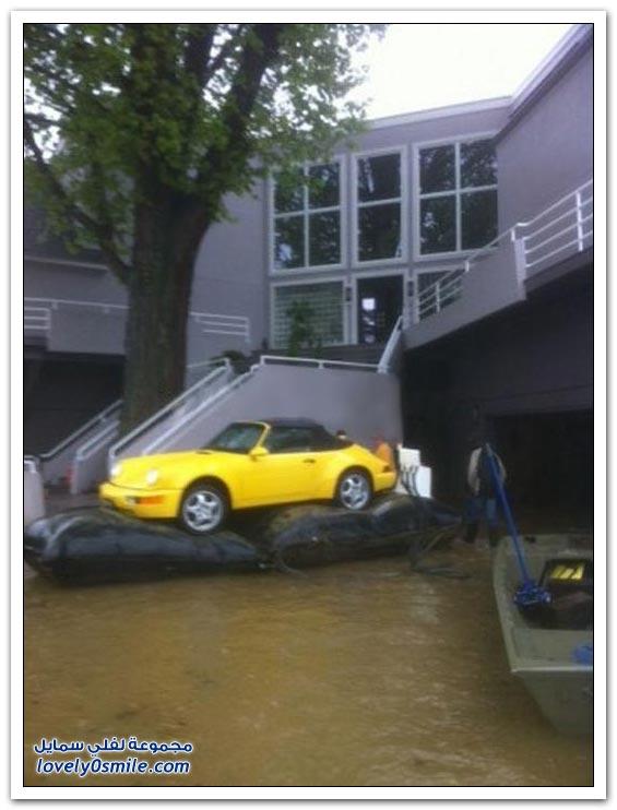 أهم شي البورش ما صار فيها شي بعد الفيضانات في أمريكا