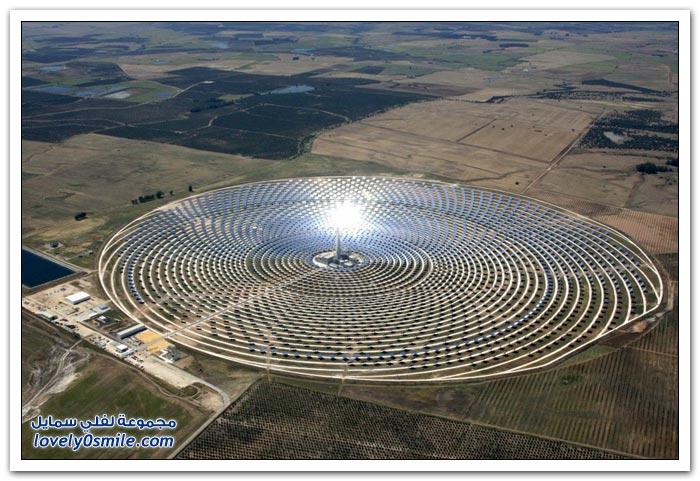 محطة للطاقة الشمسية في اسبانيا