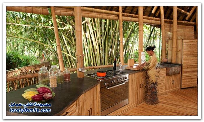 بيوت الخيزران في بالي