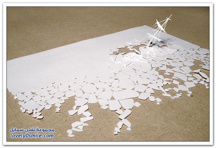 منحوتات من ورقة واحدة