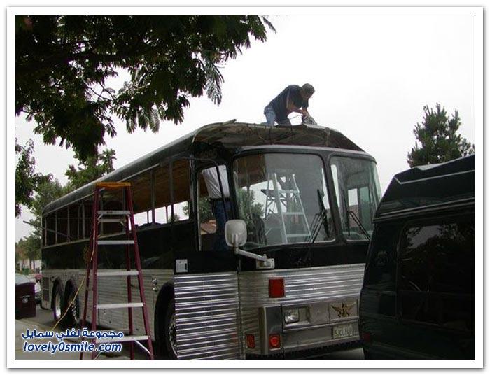 تحويل حافلة إلى منزل