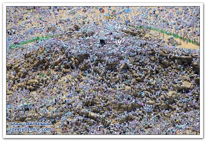 صور للحجاج في عرفة لحج عام 1434هـ