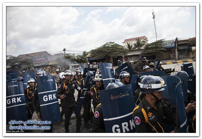 احتجاجات كمبودية