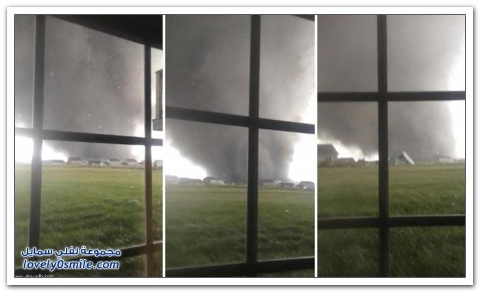 إعصار يضرب غرب أمريكا