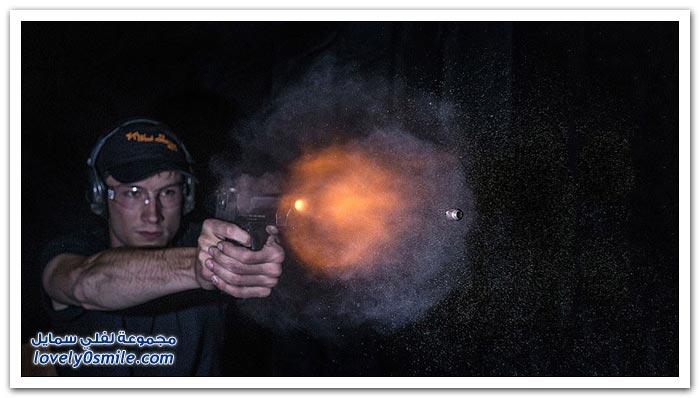 تصوير اللحظات الأولى لانطلاق الرصاصة