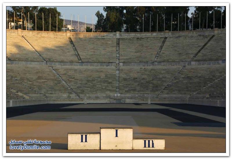 الملاعب الأولمبية في أثينا بعد مرور 10 سنوات