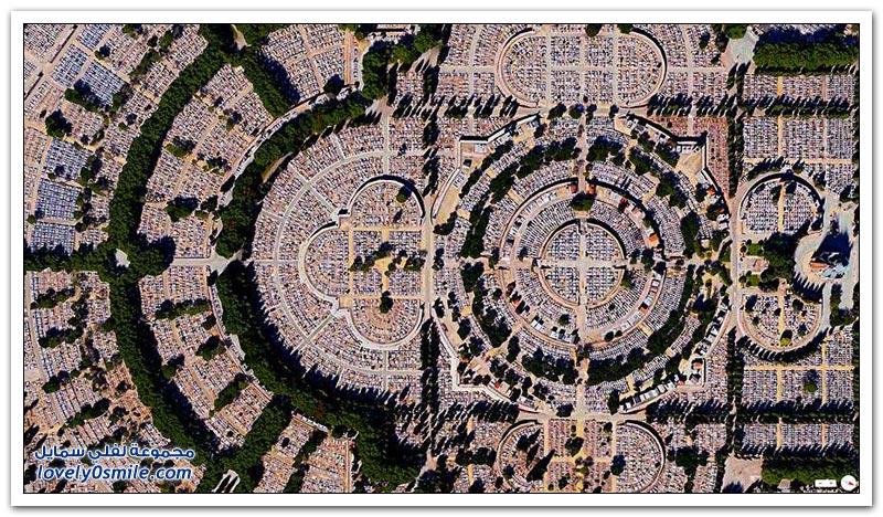 صور مذهلة عبر الأقمار الصناعية لمدن حول العالم