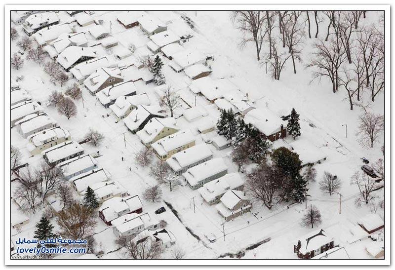 نيويورك تحت الثلج