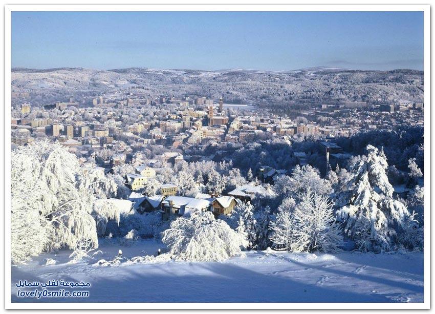 أكثر المدن جمالاً في فصل الشتاء