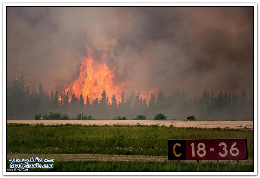 حرائق غابات كندا