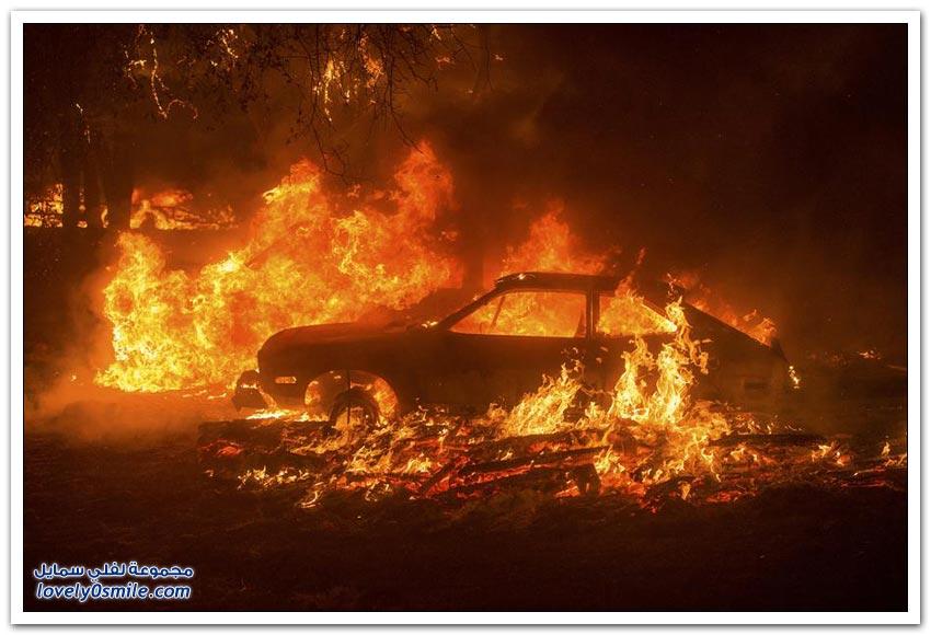 حرائق غابات كاليفورنيا 2015م