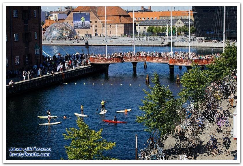 جسر المشاة Cirkelbroen في كوبنهاغن