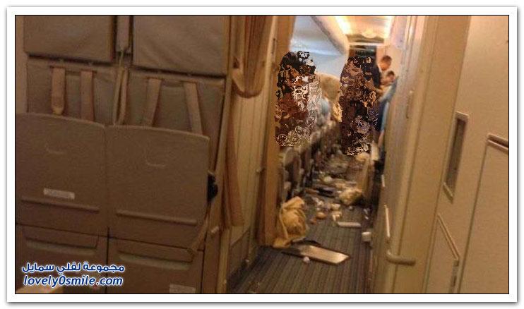 عندما تواجه الطائرة مطبات هوائية