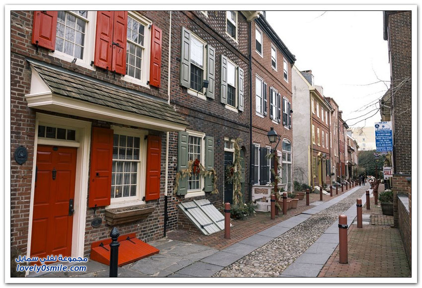 زقاق إلفريث أقدم شارع سكني في أميركا