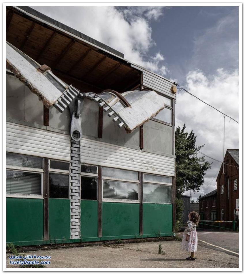 مبنى بشكل قميص بسستة في مدينة كينت في بريطانيا
